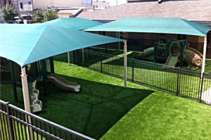 FallZone Synthetic Grass Playground Safety Surface
