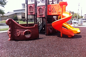 FallZone Bonded Rubber Playground Safety Surface