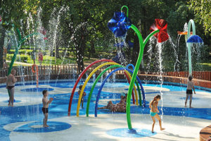 fallzone-splash-pad playground surface