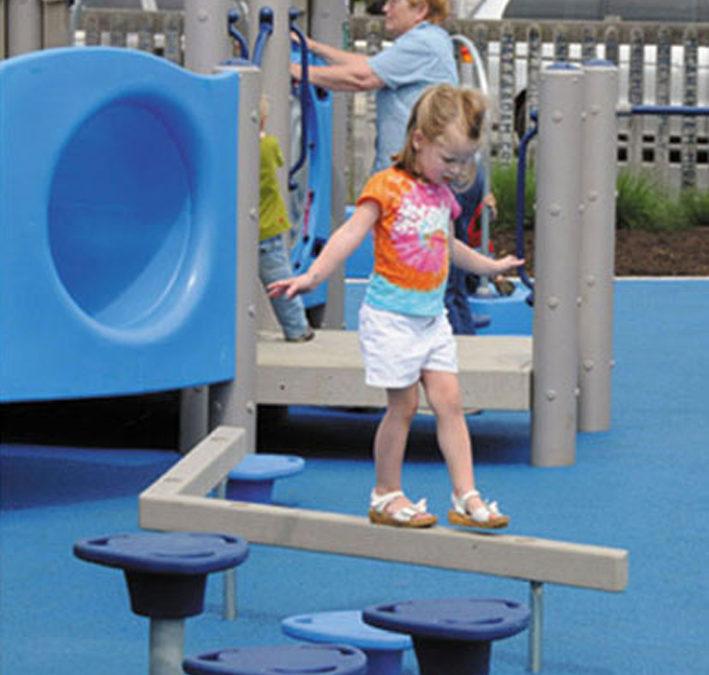 Playground Balance Beam Fall-Zone & Fall-Height for FallZone Playground Safety Surfacing
