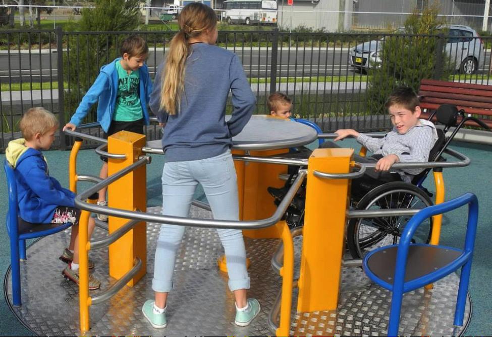 FallZone Playground Surfacing for Rotating Playground Equipment