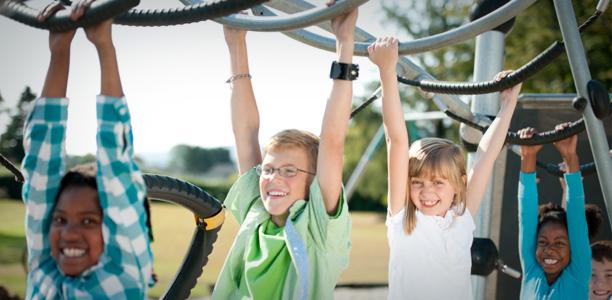 FallZone Playground Surfacing Fall-Zone & Fall-Height for Playground Monkey Bars