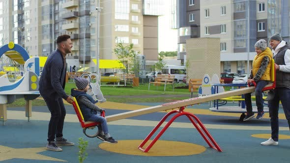 Playground Surfacing Fall-Zone & Fall-Height for Seesaws