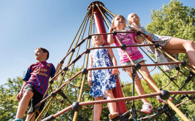 FallZone Playground Safety Surfacing Fall-Zone & Fall-Height for Net Climbers