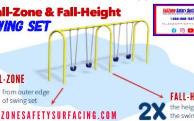 FallZone Safety Surfacing Swing Set Fall-Zone & Fall-Height