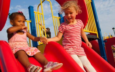 Playground Slides Protective FallZone Area & Critical Fall Height